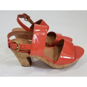 FRANCO SARTO Patent Leather Kork Platform Shoes